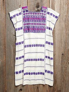 Vintage Oaxacan Embroidered Dress