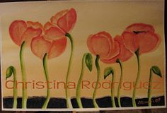 """Poppy Dance"" by C. Rodriguez Landis Watercolor"
