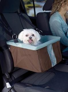 Keep your furry friend safe while protecting the interior of tour home with the Portsmouth Dog Booster Seat that can safely hold a pet up to 30lbs.