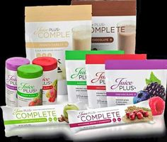 Here is all the available products from juice plus