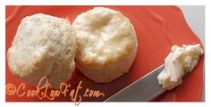 Incredible low fat easy biscuits. These biscuits are flaky and buttery and have only 59 calories each! Theyre amazing! Just click on the pic for the recipe from www.cooklowfat.com