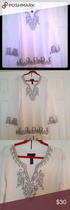 Blouse I.N.C International concept woman White blouse with design I.N.C International concept Tops Blouses