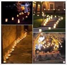 decoration_salle_mariage_illumination_sac_lanterne_photophore_bocal Decoration Table, Wedding Decorations, Christmas Tree, Candles, Lights, Holiday Decor, Furniture, Home Decor, Interior Ideas