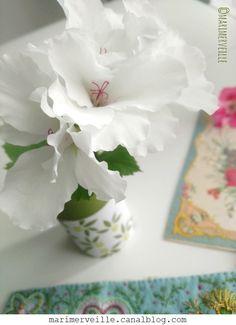 Autour des fleurs carnet couture- création Marimerveille