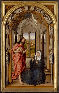 https://flic.kr/p/odbH2x | Christ Appearing to His Mother | c. 1496. Oil on wood. 63,5 x 38,1 cm. The Metropolitan Museum of Art, New York. 22.60.58.