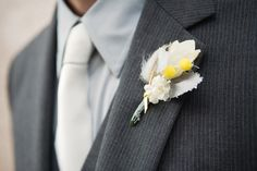 This link has three wedding where the colors were yellow and gray--click on the suit to go to the website. good ideas