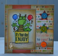 "Made With Love Cards: ""It's Your Day ENJOY"" For more details about my card please visit my blog @ https://madewithlovecards.blogspot.com"