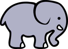 2D cartoon elephant by lemmling