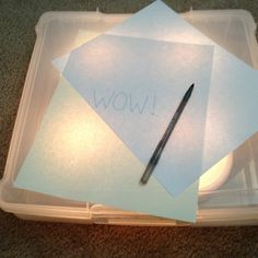 DIY Tracing Light Box for under $20.-great idea. Scrapbook paper storage box and night lights!