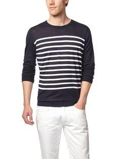CLOSED - Striped Crewneck Sweater