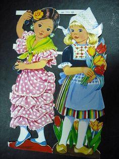Die Cut Scrap Sheet Girls