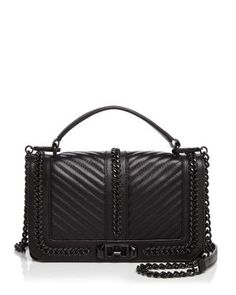 Rebecca Minkoff Love Chevron Quilted Chain Top Handle $345   Crossbody | Bloomingdale's