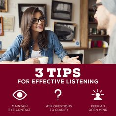 The more you listen, the more you know! Here's 3 tips for becoming a better listener!