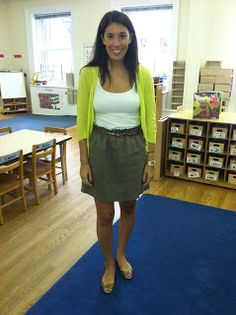 Teach With Style: A Teacher's Account Of Her Year In Fashion. Nice outfit for transitional times before the AC gets turned on in the bulding