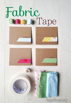 DIY Fabric Tape... Super cute! sugarbeans.com