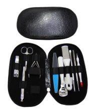 Glow Professional Black 10 Piece Manicure And Pedicure Set Includes Nail Buffer Foot Buffer And Smoother Hard Skin Corn Callus Shaver Remover Nail Files Cuticle Nipper Nail Clipper Cutter Nail Pushers - £19.99 - http://crackheel.com/glow-professional-black-10-piece-manicure-and-pedicure-set-includes-nail-buffer-foot-buffer-and-smoother-hard-skin-corn-callus-shaver-remover-nail-files-cuticle-nipper-nail-clipper-cutter-nail-pushers-hove-stick-with-cuticle-cutter-remover-manicure-nail-c/