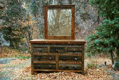 absolutely beautiful handcrafted wood - Reclaimed Wood and Rock Rustic Dressers    -    USA Made, Eco Friendly. One in stock.