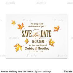 Autumn Wedding Save The Date Invitation Template