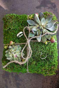 succulent ring bearer pillow