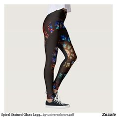 Spiral Stained Glass Leggings