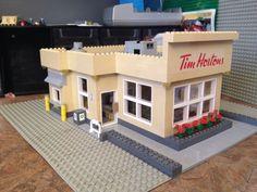Custom made Tim Hortons LEGO Coffee Shop set comes complete with Drive thru