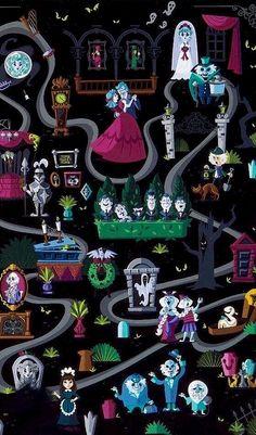 Haunted Mansion Ride, Haunted Mansion Wallpaper, Haunted Mansion Halloween, Disney Halloween, Cute Disney, Disney Dream, Disney Girls, Disney Magic, Disney Diy