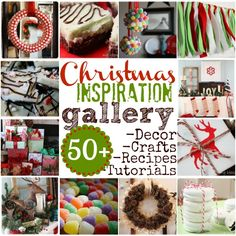 Christmas Inspiration Gallery - over 50 recipes and tutorials for crafts and decor from Myra at My Blessed Life Christmas Makes, Winter Christmas, All Things Christmas, Merry Christmas, Free Christmas Printables, Christmas Activities, Do It Yourself Design, Holiday Fun, Holiday Ideas