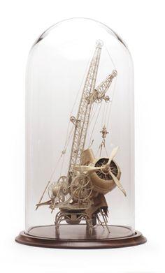 Daniel Agdag all cardboard sculpture