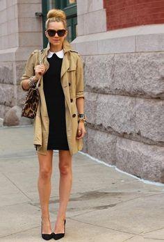 Dress:Alice + Olivia. Shoes: Zara. Trench: Gap. Sunglasses:Karen Walker 'Number One'. Purse: Valentino. Jewels: David Yurman, Pomellato, Hermes, Jcrew, Stella and Dot.(image:atlantic-pacific)