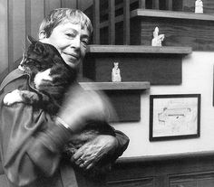 ursula le guin and the cat <3