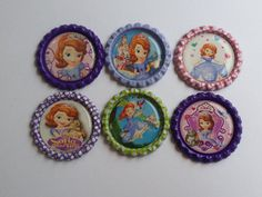 Set of 6 Disney Princess Sofia themed Finished by MagnoliaDelight