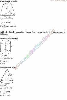 Formule matematica gimnaziu 5 8 Formule si teorie Geometrie plana si in spatiu si Trigonometrie pagina 13