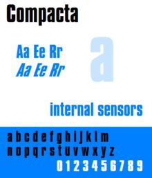 Compacta Font - Star Trek TNG