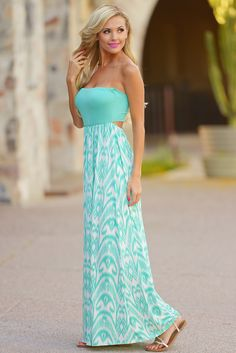 Sweet Surprises Maxi Dress - Mint from Closet Candy Boutique