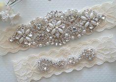 Wedding garter,  via etsy.com