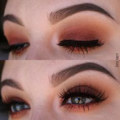 Warm brown and orange tone smokey eye with Modern Renaissance Palette by Anastasia Beverly Hills