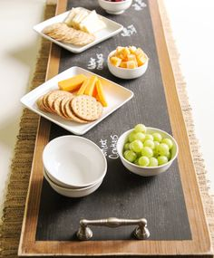 create a crafty chalkboard serving tray using rust oleum wood stain and specialty chalkboard paint
