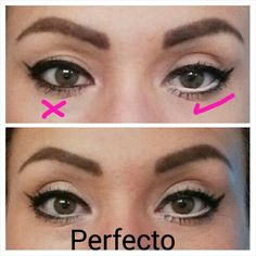 1000 images about maquillaje ojos peque os on pinterest for Como pintarse los ojos de negro