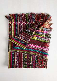 Former or Pattern Blanket. Use this cotton throw blanket by Karma Living to enliven your living room, or wrap its bursts of color around you as a light layer - however you wish to use it, its a boho-inspired victory! #multi #modcloth