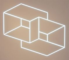 Rob and Nick Carter, RN663 Structural Constellations after Josef Albers, 2007. Neon light sculpture