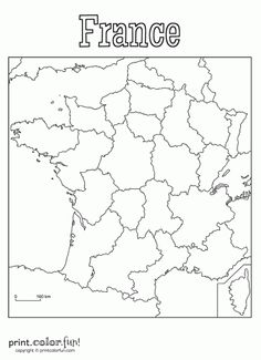 Printable Outline Maps For Kids Map Of France Outline Blank Map - France map blank