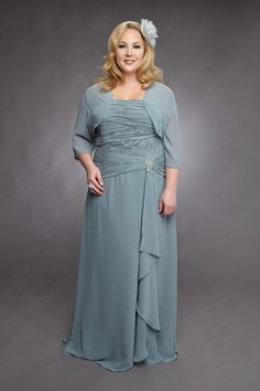 A Lovely BBW Plus Size Mother Of The Bride Dress To Match Various Wedding Color Themes Chiffon Strapless Line With Drape And Beading