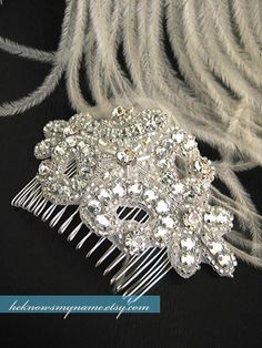 Wedding Accessory Bridal Hair Comb Josephine Free by heknowsmyname, $44.00