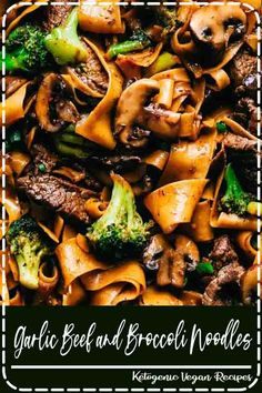 Garlic Beef and Broccoli Noodles. Garlic Beef and Broccoli Noodles. Garlic Beef and Broccoli Noodles is made with tender melt in your mouth beef in the most amazing garlic sauce. Add some mushrooms, broccoli and noodles for an amazing meal in one! Beef Dishes, Pasta Dishes, Food Dishes, Meat Dish, Main Dishes, Think Food, Food For Thought, Healthy Meals, Easy Meals