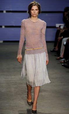 ultra-lightweight sweater to a flyaway pleated skirt for an utterly ethereal look with complete coverage.