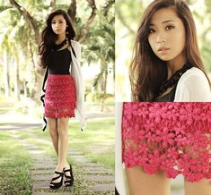 Clothes For The Goddess Skirt And Cardigan, Sugarfree Heels | Web of Flowers (by Kryz Uy) | LOOKBOOK.nu