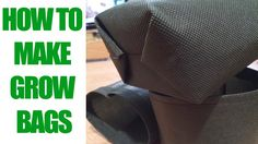 How To Make An Easy Grow Bag in 5 Minutes-Landscaping material Scissors Clips, Glue Gun, A Sewing Machine, A Chopstick