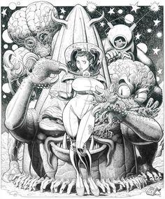 Arthur Adams - Comic Artist - The Most Popular Comic Art by Arthur Adams Cartoon Cartoon, Cartoon Kunst, Comic Kunst, Arte Sci Fi, Sci Fi Art, Arte Horror, Horror Art, Comic Book Artists, Comic Artist