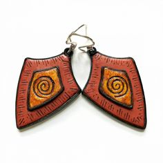 Shelley Atwood's textured polymer clay earrings