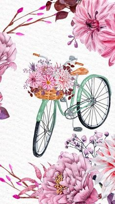Image in Admin's images album Flowery Wallpaper, Go Wallpaper, Wallpaper Backgrounds, Disney Wallpaper, Wallpaper Quotes, Plant Illustration, Watercolor Illustration, Wallpaper Fofos, Decoupage Vintage
